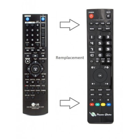 Replacement Remote Control for LG RC388, TV