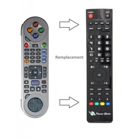 Replacement Remote Control for Freebox V5, HD-V2, NEUF, FREE