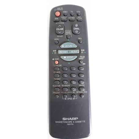Remote ORIGINAL, REMOTE, Sharp - G0077AJ, VCR